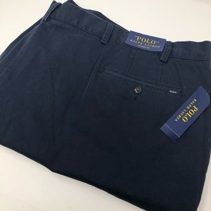 Polo Ralph Lauren Navy Blue Chino Flat Front Short